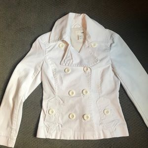H&M white denim jacket